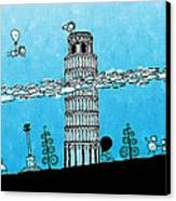 Playful Tower Of Pisa Canvas Print by Gianfranco Weiss