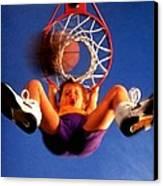 Playing Basketball Canvas Print
