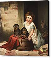 Playing With Friends Circa 1850 Canvas Print by Aged Pixel