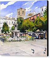 Plaza Bib Rambla Canvas Print