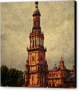Plaza De Espana 2. Seville Canvas Print by Jenny Rainbow