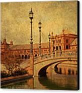 Plaza De Espana 9. Seville Canvas Print by Jenny Rainbow