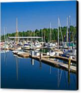 Pleasant Harbor Canvas Print by Mark Bowmer