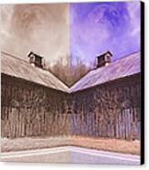 Pleasant View Country Barns Canvas Print