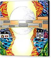 Pleasantville Bridge Canvas Print by Lewanda Laboy