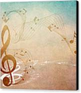 Please Dont Stop The Music Canvas Print by Angelina Vick