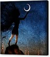 Please Give The Moon A Little Kiss For Me Canvas Print by John Magnet Bell
