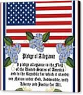 Pledge Of Allegiance Canvas Print by Anne Norskog