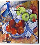 Plums Apples Canvas Print by Vladimir Kezerashvili
