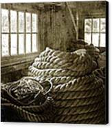 Plymouth Cordage Company Ropewalk Canvas Print