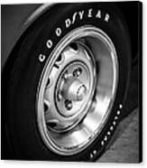 Plymouth Cuda Rallye Wheel Canvas Print by Paul Velgos