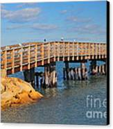 Plymouth Harbor Breakwater Canvas Print by Catherine Reusch Daley