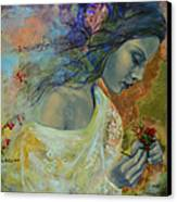 Poem At Twilight Canvas Print by Dorina  Costras