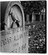 Poe's Original Grave Canvas Print by Jennifer Ancker