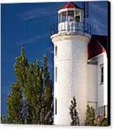 Point Betsie Lighthouse Michigan Canvas Print by Adam Romanowicz