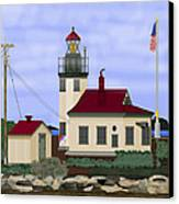 Point Robinson With Shoreline Detail 2013 Canvas Print