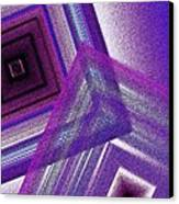Pointillism And Purple On Geometric Art  Canvas Print by Mario Perez