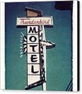 Polaroid Transfer Motel Canvas Print by Jane Linders