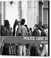 Police Line 1990s Canvas Print