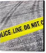 Police Line Canvas Print