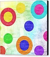 Polka Dot Panorama - Rainbow - Circles - Shapes Canvas Print by Andee Design