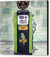 Polly Gas Pump Canvas Print