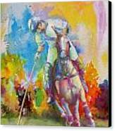 Polo Art Canvas Print