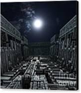 Polychrony Moonlight Canvas Print by Bernard MICHEL