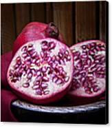 Pomegranate Still Life Canvas Print by Tom Mc Nemar