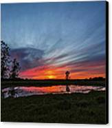 Pond In The Pasture Canvas Print by Matt Molloy