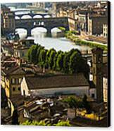 Ponte Vecchio Late Afternoon Canvas Print by Jon Berghoff