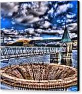 Pontsticill Reservoir Merthyr Tydfil Canvas Print by Steve Purnell