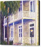 Poogan's Porch Canvas Print by Patricia Huff