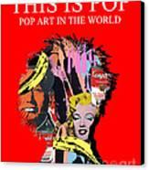 Pop Art Canvas Print by Elena Mussi