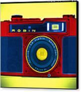 Pop Art Robin Canvas Print by Mike McGlothlen
