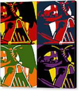 Pop Art Vader Canvas Print