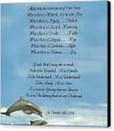 Pope Francis St. Francis Simple Prayer Dance Of The Dolphins Canvas Print by Desiderata Gallery