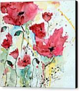 Poppies 05 Canvas Print by Ismeta Gruenwald