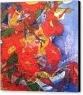 Poppies Gone Wild Canvas Print by Sherry Harradence