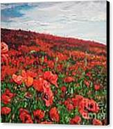 Poppies Impression Canvas Print by Andrei Attila Mezei