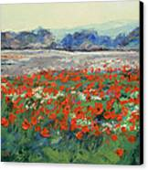 Poppies In Flanders Fields Canvas Print by Michael Creese