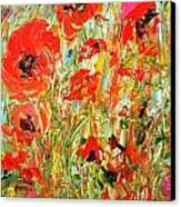 Poppies In The Sun Canvas Print by Barbara Pirkle