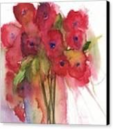Poppies Canvas Print by Sherry Harradence