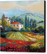 Poppy Fields Of Italy Canvas Print