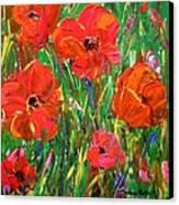 Poppy Frenzy Canvas Print by Barbara Pirkle