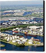 Port Of Amsterdam, Amsterdam Canvas Print