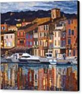Port Of Cassis Canvas Print by Lenore Crawford