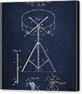 Portable Drum Patent Drawing From 1903 - Blue Canvas Print