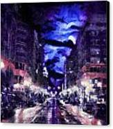 Portland Pastel Canvas Print by Cary Shapiro