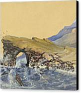 Portland Point Natural Bridge Circa 1862 Canvas Print by Aged Pixel